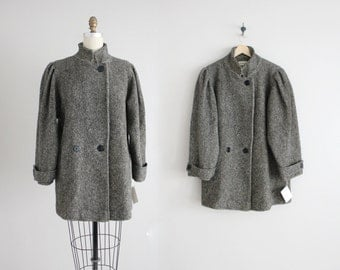 voluminous wool coat | 80s wool jacket | oversized wool jacket