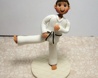 Karate Tae Kwon Do Jujitsu Cake Topper Figurine Custom Made To Order