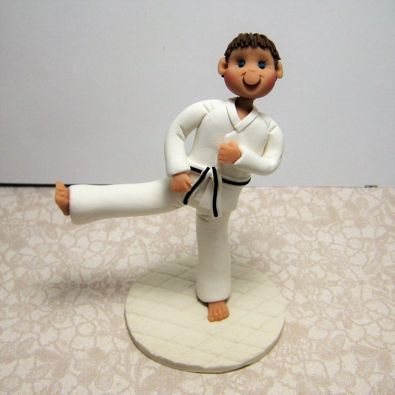 Karate Tae Kwon Do Jujitsu Cake Topper Figurine Custom Made To