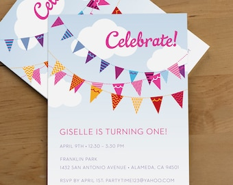 Party Invitation — Bunting