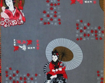 Geisha, Far East Fabrics 4 Sample Pieces