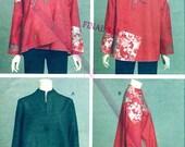 Loose fitting jackets Sewing pattern Designer Artistic Chic Evening wear Katherine Tilton Vogue 8654 Size 8 to 14 Uncut