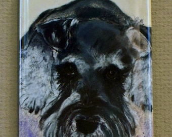 Schnauzer Dog Art Magnet By Cori Solomon