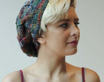 Hand knit Autumn tam