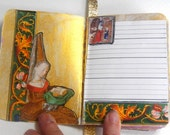 Medieval woman journal/ travel journal/ Free Shipping/  mini journal /  junk journal / diary /notebook/ smashbook / mixed media journal