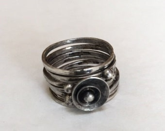Sterling Silver Stacking Rings, ring size 4.5