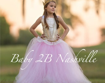 Gold Dress Sequin Dress Flower Girl Dress Pink Dress Tulle Dress Wedding Dress Party Dress  Birthday Dress Toddler Tutu Dress Girls Dress