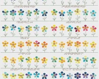 Temperature Garden cross stitch pattern PDF - INSTANT DOWNLOAD