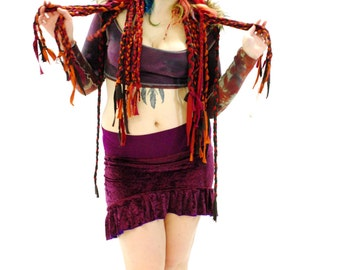 LAST CHANCE SALE - Hippie Hood - Festival Hood - Boho Hood - Gypsy Hood - Womens Hood - Festival Clothes - Fairy Hood - Pixie Hood