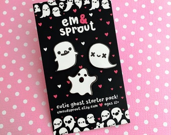 Ghost Enamel Pin Set of Three - Or Choose Individually