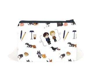 CHOOSE SIZE Sherlock Pouch / Benedict Cumberbatch Camera Bag / Sherlock Holmes Make Up Bag