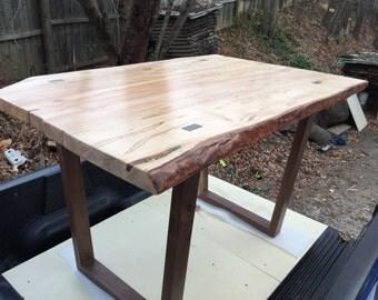 Modern Slab Table with U-Shaped Legs