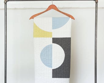 Mid-Century Modern Throw Quilt - Cutouts #1