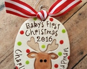 Baby's first Christmas, 1st christmas ornament, personalized ornament, christmas tree ornament, my first Christmas, baby shower gift