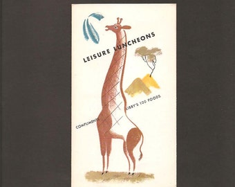Leisure Luncheons - Compliments Of Libby's 100 Foods - Vintage Foldout Advertising Booklet c. 1938 - Mary Hale Martin