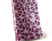 Paperback Book Cover - Reusable, Protective and Adjustable - Small Mass Market Size -  Purple Petal Design