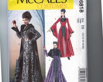 Misses Sewing Pattern McCalls M6818 6818 Maleficent Witch Sleeping Beauty Size 12 14 16 18 20 UNCUT