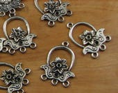 Antique Silver Three to one Connector - Chandelier Earring Pendant Bracelet Component - Jewelry Supply