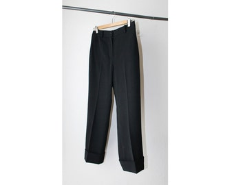 1990's Sheer Black Capri Slacks