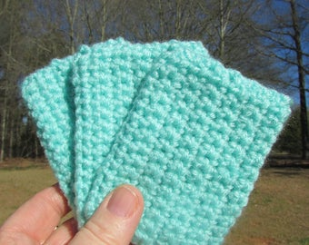 Crochet tawashi scrubbie eco set of three