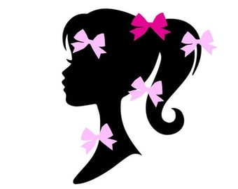 Best Seller Pin The Bow On Fashion Doll Party Game Glam Party Fashion Girl Silhouette Birthday Party Girly Party Pin The Bow, Doll Party