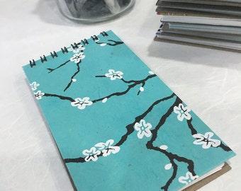 Turquoise Cherry Blossom Memo Pad