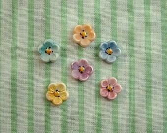 Flower Embellishment set of 6