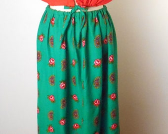 vintage Happy Homemade Hippie skirt and Top - Wall Tapestry Dress, Small #010