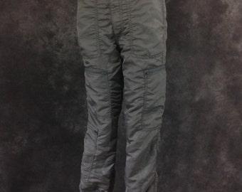 Vintage 1980's Bugle Boy grey parachute pants 31 Long