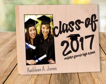 Graduation gift frame - personalized graduation day photo frame GPF