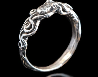 Silver Ring Octopus Ring Tentacle Ring Octopus Jewelry Tentacle Jewelry Silver Band Sterling Silver Ring Pinky Ring Thumb Ring Gift For All
