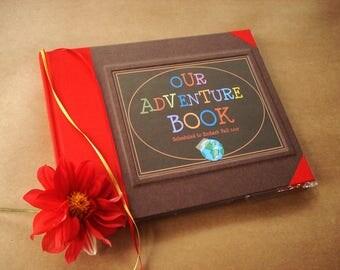 Custom Our Adventure Book · UP· Wedding Anniversary Scrapbook· Playful Paper Anniversary Gift· Adventure Travel Photo Album Keepsake· Movie
