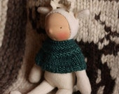 Kent, Wee Baby Deer doll by Fig and Me, waldorf inspired, natural toy, handmade doll.