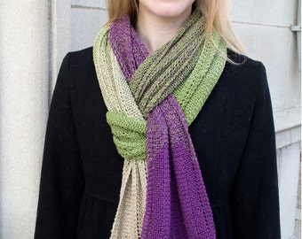 Rippled Evolution Scarf Knitting Pattern - PDF