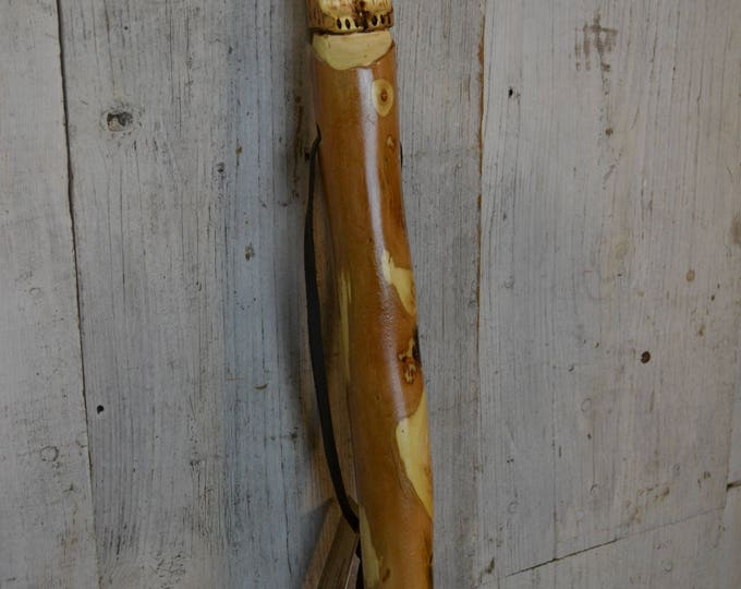 Hand Carved Walking Stick, Bear Walking Stick - Grizzly Carving -  Bear Stick - Hiking - Unique Gift - Functional Art - Ren Faire 1653