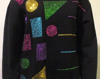 Sequined Shapes Sweater