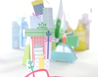 christmas gift boxes - downloadable - gift boxes - modern