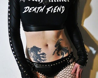 Hellhammer Studded Crop Top