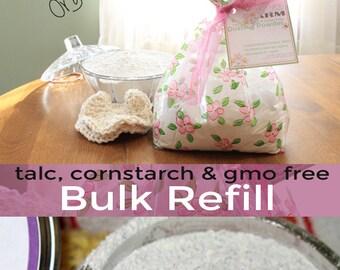 Summer Sheets Organic Dusting Powder | Bulk Loose Powder 8 oz 16 oz | refill body powder | foot deodorant powder | no cornstarch, no talc