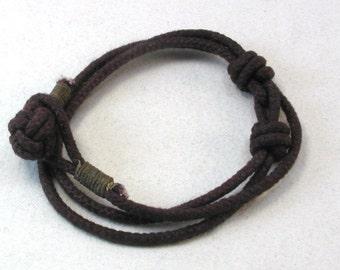 dark red rope bracelet nautical slip-knot bracelet adjustable cotton bracelet rope bracelet 3973