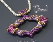 TUTORIAL Cellini Marquis Pendant, Beaded with Peyote Stitch and Seed Beads