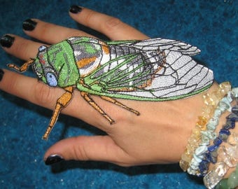 Awesome Cicada insect iron on Patch