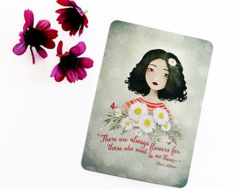 There are always flowers... - Postcard