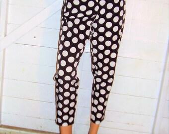 Vintage Black White Polka Dot Pants 7