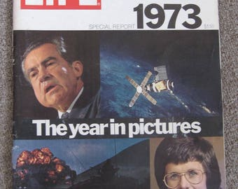 Vintage LIFE magazine Special Report 1973 The Year in Pictures complete uncut issue