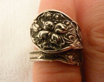 Antique Gorham Sterling Silver Spoon Ring Size 3