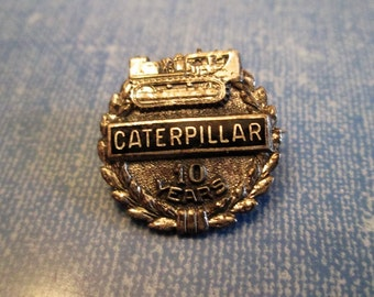 PIN - Sterling Silver - 925 - CATERPILLAR Co. - 10 Year misc480