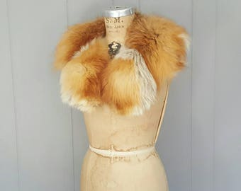 LARGE Red Fox Fur Collar