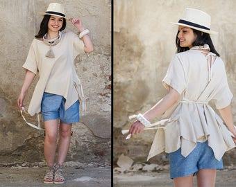 Plus Size Linen Top, Linen Tunic Top, Linen Clothing, Summer Tunics, Linen for Women, Linen Boho Clothing, Womens Tunic, Organic Clothing