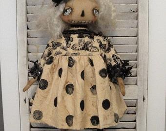 EPATTERN - Miss Gwendolyn primitive folk art halloween ghost doll epattern